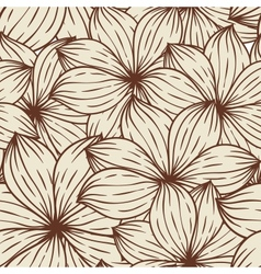 Seamless texture of abstract flowers vector image vector image