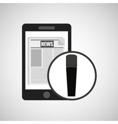 smartphone digital news online design vector image