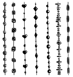 String of Beads Set Black and White vector image vector image