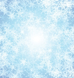 Christmas background with ice effect vector image