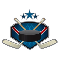 Emblem of the hockey team vector