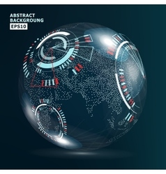 Futuristic Globalization Interface Earth Science vector image vector image