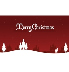 Merry Christmas spruce winter landscape vector image vector image