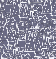 Royal castle with towers seamless pattern vector