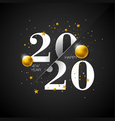 2020 happy new year with typography vector image