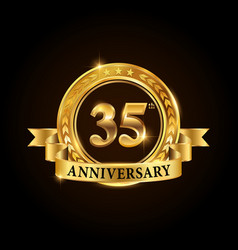 35 years anniversary celebration logotype vector