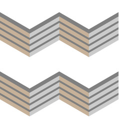 3d grey fence seamless chevron pattern vector