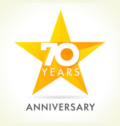 70 anniversary star logo vector