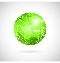 abstract ball of green spots vector image
