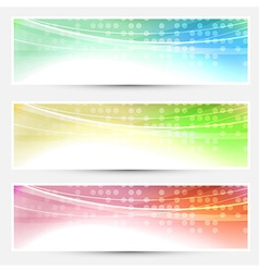 Abstract bright colorful banners set - web vector