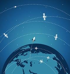 Abstract global modern transport scheme vector