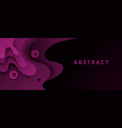 abstract paper cut background 3d effect vector image