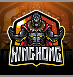 Angry gorilla mascot logo desain vector