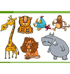 Animals cartoon characters set vector