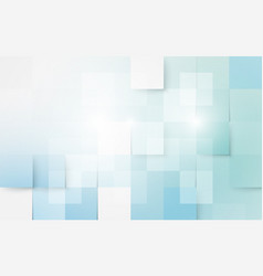Blue and white abstract geometric and rectangles vector