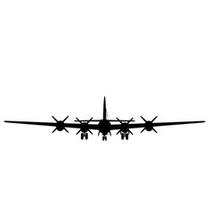 Boing b-29 superfortress front silhouette vector
