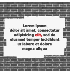 Brick Wall with Place for Text vector