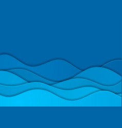Bright blue corporate waves abstract background vector