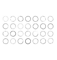 circle set circles shaband curved lines vector image
