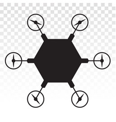 Civilian aerial drone flat icon on a transparent vector
