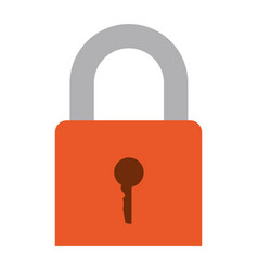 colorful silhouette of padlock icon vector image vector image