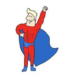 Comic cartoon superhero vector
