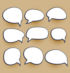 Comic chat bubbles elements set vector