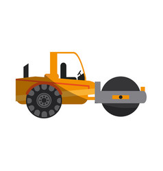 Construction heavy machinery icon image vector