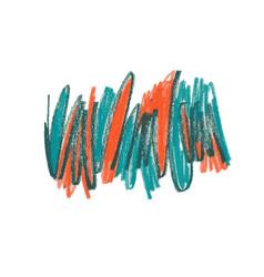 Crayon scribble hand drawn vector