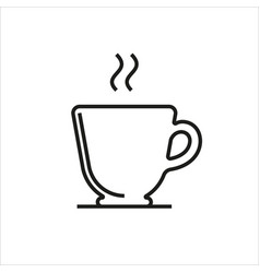 cup simple icon on white background vector image