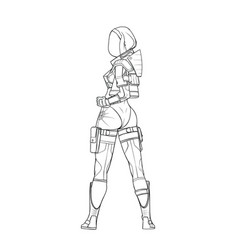cyborg womens space suit vector image
