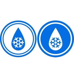 Droplet with snowflake vector