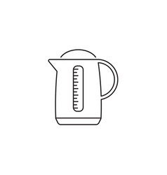 electric kettle pot line icon outline vector image
