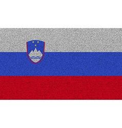 Flags slovenia on denim texture vector