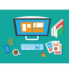 Flat workspace vector