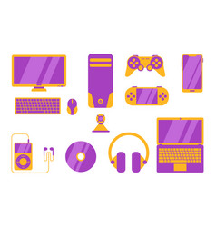 gadget object electronic tools with various vector image
