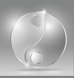glass transparent chinese philosophy in yang sign vector image