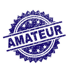 Grunge textured amateur stamp seal vector