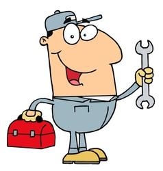 Happy Mechanic Guy vector image vector image