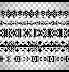 Horizontal seamless ethnic pattern set vector