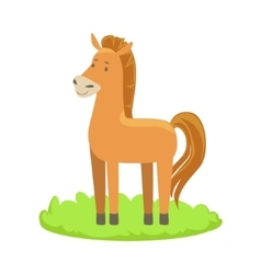 Horse Farm Animal Cartoon Farm Related Element On vector image