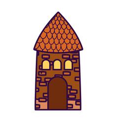 House cottage rural architecture farm cartoon vector