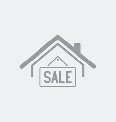 House for sale - real estate icon vector