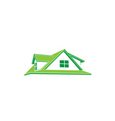house isolated on white background vector image