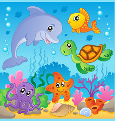 Image with undersea theme 2 vector