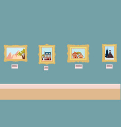 interior art gallery vector image