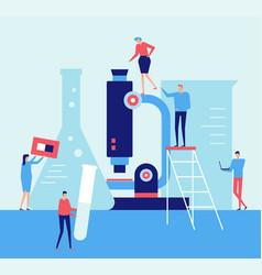 laboratory - flat design style vector image