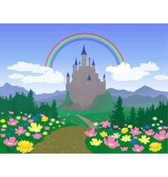 Landscape With Castle vector