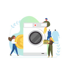 laundry service flat style design vector image