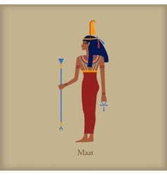 Maat Goddess of justice icon flat style vector image